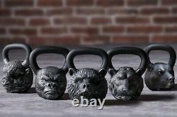 Cast Kettlebell Designer Iron Head Gorilla Poids 16 KG 35 Lbs
