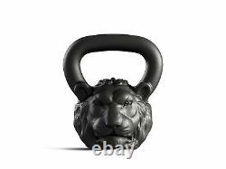 Cast Kettlebell Designer Iron Head Lion Poids 16 KG 35 Lbs