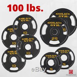 Cast Plaques Olympique Poids (sets 50-100 Lb) Fer Barbell Home Plate Gym Exercise