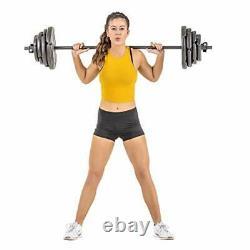 Ensemble De Barbell Avec Des Plaques De 60lb Pour La Formation D'haltérophilie D'entraînement De Forme Physique À La Maison