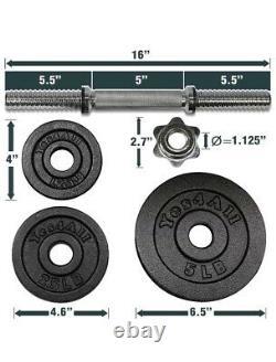 Ensemble De Poids De Haltères Réglable De 105 Lb 105 Lb (2 X 52,5 Lb) Comme Bowflex