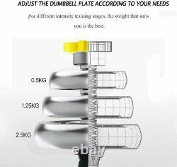 Etats-unis Réglable Poids Fonte Dumbbell Barbell Kit Home Workout Tool 44 Lbs