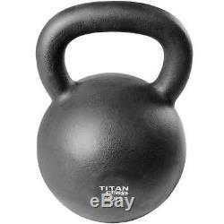 Fonte Kettlebell Poids 100 Lb Naturel Solide Titan Fitness Workout Swing