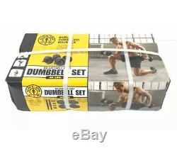 Golds Gym 40 Lb Cast Réglable Set D'haltères De Poids! Tout Neuf
