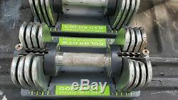 Gym Spacesaver 25 Réglable De 5 À 25 Lb Dumbell Set Avec Plateau De Haltère Or