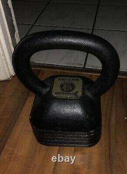Ironmaster Quick-lock Kettlebell 22-57.5lb Warantee Vie