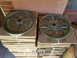 Ivanko Pro Dumbbell (pairs/sets) 5-50 Lb 1395 $ Plates Calibrées Navires USA