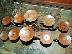 Jan Barboglio Iron Art 30lb Main Made Candelabra 5 Candle Altar