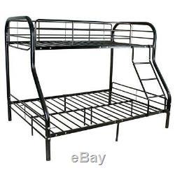 Lits Superposés En Métal Lits Cadre Charge De 250lbs Double Plus Full Size Ladder Kid Dorm Chambre