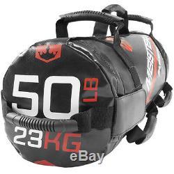 Meister 50lb Elite Sandbag Avec 3 Kettlebells Pondéré De Levage Crossfit Fitness
