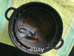 Moule À Fromage À Tête De Porc En Fonte Vintage De Plus De 7 Lbs