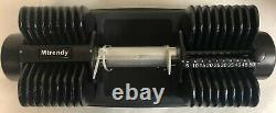 Mtrendy 5-50 Lbs Réglable Dumbbell Black Single / Paire Weight Workout Exercise