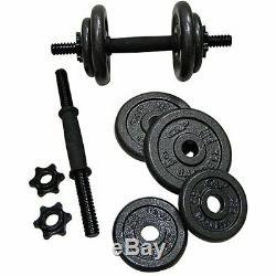 Nouveau Golds Gym 40 Lb Fonte Haltère (paire) Les Poids Réglables En Instance
