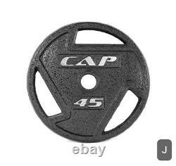 Nouveau, Paire Cap Barbell 2 Inch Olympic Grip Plate. 45 Livres (90 Lb Au Total)