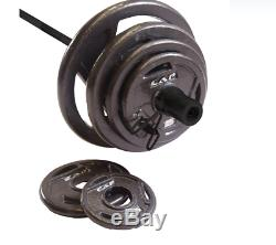 Nouvelle Pac Barbell 210 Lb Poids Olympique Set Ship Fast