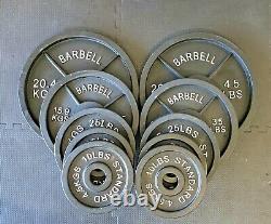 Nouvelles Plaques De Poids Olympiques Barbell (vendu En Paires). Garantie De Prix La Plus Basse