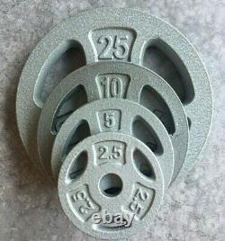 Nouvelles Plaques De Poids Standard 1 Choisissez Paire 25 10 5 2.5lb Cap En Fonte Grip