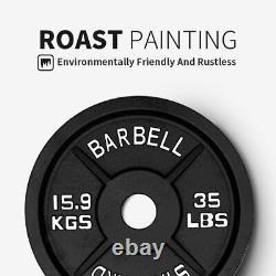 Olympic Barbell Plaques En Fonte Haltérophilie Poids Solides Puissance D'entraînement Nouveau