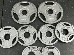 Olympic Plate Poids Set 45 Lb Grip Total Des Plaques Olympiques Fitness Vitesses