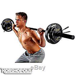 Olympic Plate Poids Set & Bar Total Home Gym Équipement D'exercice De Remise En Forme