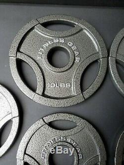 Olympique Poids Plaques Set 10lb, 5lb, 2.5lb- 45lb Total! (8 Plaques) - Neuf