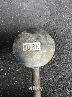 Paire De 50 Lb Vintage York Barbell Globe Haltères Haltérophilie