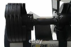 Paire De Poids Haltères Réglables Core Home Fitness Set 5-50 Lb