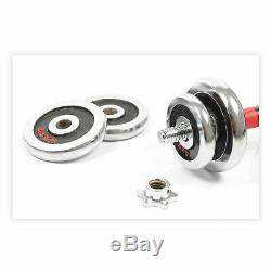 Paire Réglable Haltères Barbell Gym Set Force Fonte Poids Fer 33lb -110lb