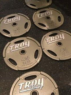 Plaques Poids Troy Plaques Olympiques De 45lb