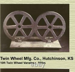 Poids Rare De Moulin À Vent En Fonte Fait Par Twin Wheel Mfg. Co, Hutchinson, Ks 50lbs