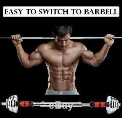 Poids Réglable À 66 Lbs En Fonte Haltère Barbell Set Home Gym Work Out
