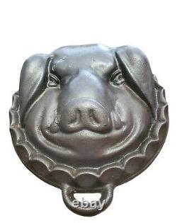 Porcs De Fonte Vintage Tête De Moule Pan De Cuisson Boar Lourd 6lbs