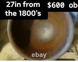 Rare Antique 27 Diamètre En Fonte Chaudron Brew Pot Sorcières 80lbs+
