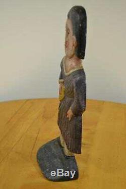 Rare Folk-art Tom Breen Grand 10 Lb Fonte Indian Summer Arrêt De Porte