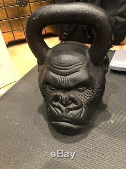 Rare Onnit Kettlebell Primal Gorilla Face 72 Lb 2 Pood 32,8 KG