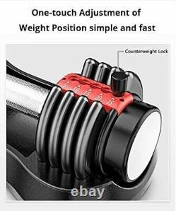 Réglable Haltère 5 À 25 Lb Simple Noir Ou Rouge Similaire À Selecttech