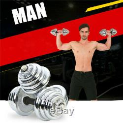 Réglable Paire Totale 22-110 Lbs Fonte Gym Force Poids Haltères Set Pa