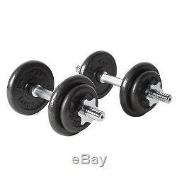 Set Haltère Poids Barbell Gym Workout Exercice De Levage Bar 40 Lb Fitness Nouveau