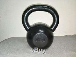 Super Poudre Fitness Enduit Kettlebell Fondu Massif Iron Gym Poids Workout 30 Lbs
