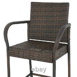 Tabouret En Osier Tabouret De Rotin Chaise De Mobilier Chaise De Jardin Extérieure Ensemble De 2 Patio