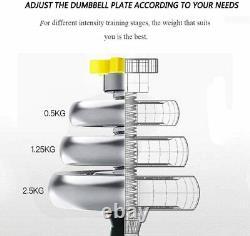 Totall 66lb Dumbells Paire Gym Poids Haltère Body Building Free Weight Set Nouveau