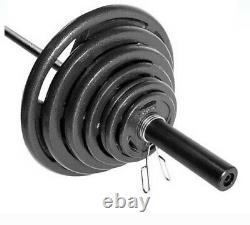 Tout Neuf Dans La Boîte! Cap 300 Lb Olympic Weight Set Avec 7ft Barbell (trou De 2 Po)