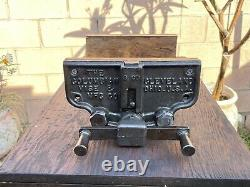 Vtg. Colombie 3-cd 10'' Jaw Woodworking Vise Cast Iron Vice 34 Lbs Cleveland, Oh