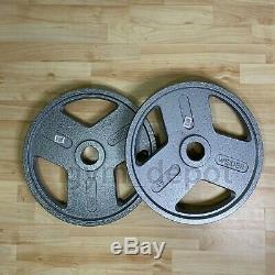 Weider Olympic Plate Poids 45lb Paire (deux Plaques De Total) Livraison Gratuite