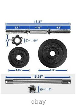 Yes4all 100 Lb Réglable Dumbbell Weight Set & Connector Free Priority Ship