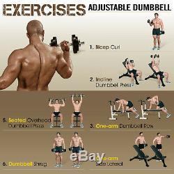 Yes4all 200 Lb Poids Haltères Réglables Pour Gym Fitness (une Paire)
