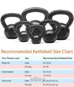 Yes4all Fonte Kettlebells Kettlebell Poids Sets Solides Entraînement 5 30 Lbs