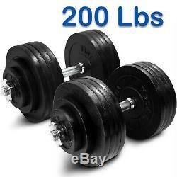 Yes4all Fonte Réglable Haltères Gym Set 40 À 200 Lb Paire Ou Simple