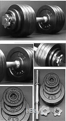 Yes4all Set 105 Lbs Haltère Cast Poids Réglable Fer Haltères Fitness Gym