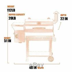 Z Grils De Granules De Bois Grill Barbecue Fumeur Contrôle Numérique Cuisine De Plein Air + Couverture Libre